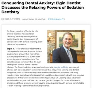 Elgin dentist Dean Lodding, DDS discusses sedation dentistry and conquering dental anxiety.